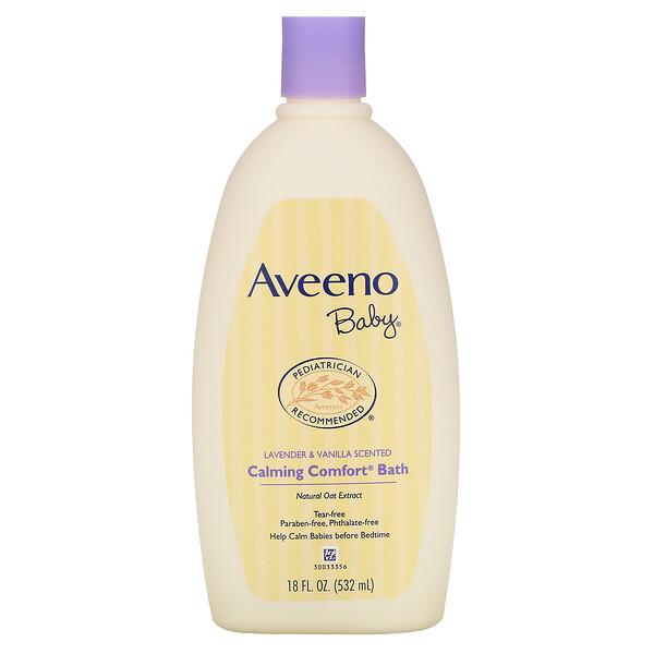 Baby, Calming Comfort Bath, Lavender & Vanilla, 18 fl oz (532 ml)