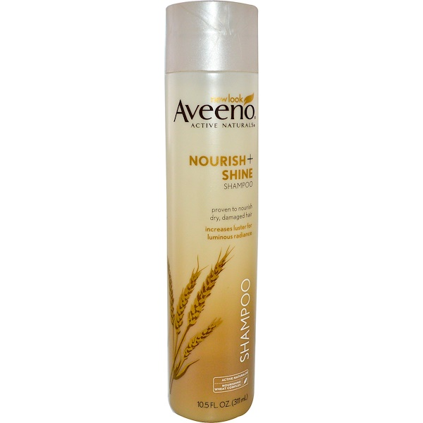 Aveeno, Active Naturals, Nourish + Shine Shampoo, 10、5 fl oz (311 ml)