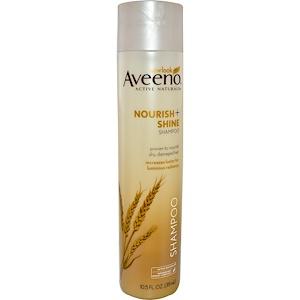 Aveeno, Active Naturals, Nourish+, Shine Shampoo, 10.5 fl oz
