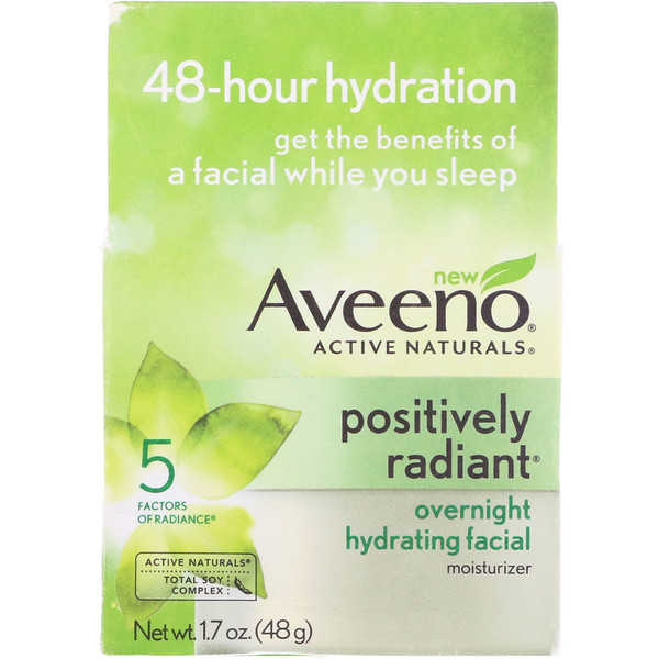 Active Naturals, Positively Radiant, Overnight Hydrating Facial Moisturizer, 1.7 oz (48 g)