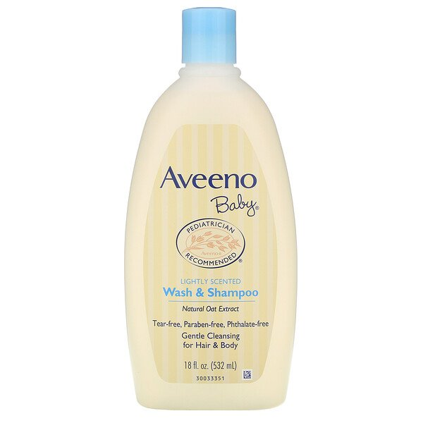 Aveeno, Baby, Wash & Shampoo, Lightly Scented, 18 fl oz (532 ml)