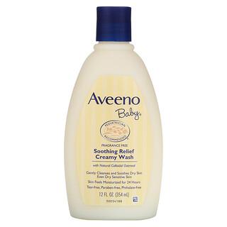 Aveeno, Baby, beruhigendes Creme-Bad, unparfümiert, 354ml