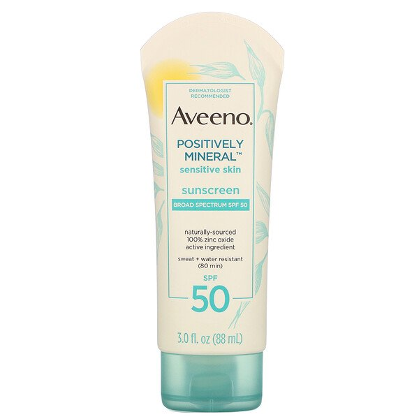 Positively Mineral Sensitive Skin, Sunscreen, SPF 50, 3.0 fl oz (88 ml)