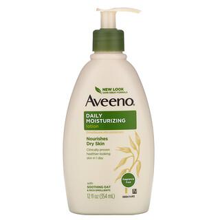 Aveeno, Active Naturals, Daily Moisturizing Lotion, Fragrance Free, 12 fl oz (354 ml)