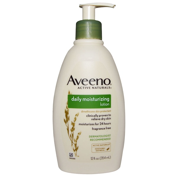 Aveeno, Active Naturals, Daily Moisturizing Lotion, Fragrance Free, 12 fl oz (354 ml)