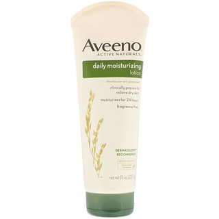 Aveeno, Active Naturals, Daily Moisturizing Lotion, Fragrance Free, 8 oz (227 g)
