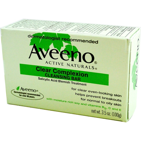 Aveeno, Active Naturals, Clear Complexion Cleansing Bar, 3.5 oz (100 g) (Discontinued Item)