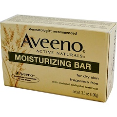 Aveeno, Active Naturals, Moisturizing Bar, Fragrance Free, 3.5 oz (100 g)