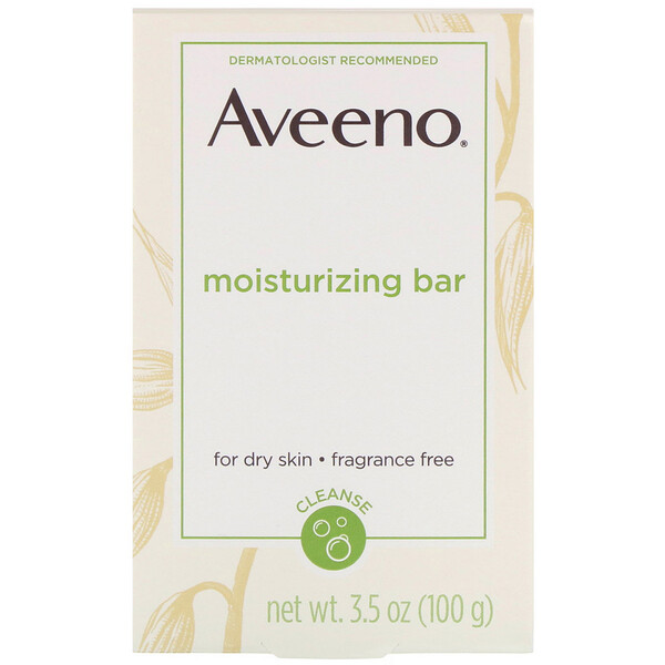 Moisturizing Bar With Nourishing Oat, Fragrance Free, 3.5 oz (100 g)