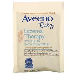 Aveeno, 嬰兒濕疹舒緩浴,不含香料,5個浴包,3.75盎司(106克)