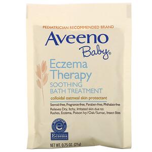 Авино, Baby, Eczema Therapy, Soothing Bath Treatment, Fragrance Free, 5 Bath Packets, 3.75 oz (106 g) отзывы
