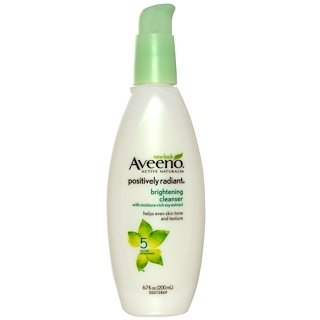 Aveeno, Active Naturals, Positively Radiant, Brightening Cleanser, 6.7 fl oz (200 ml)