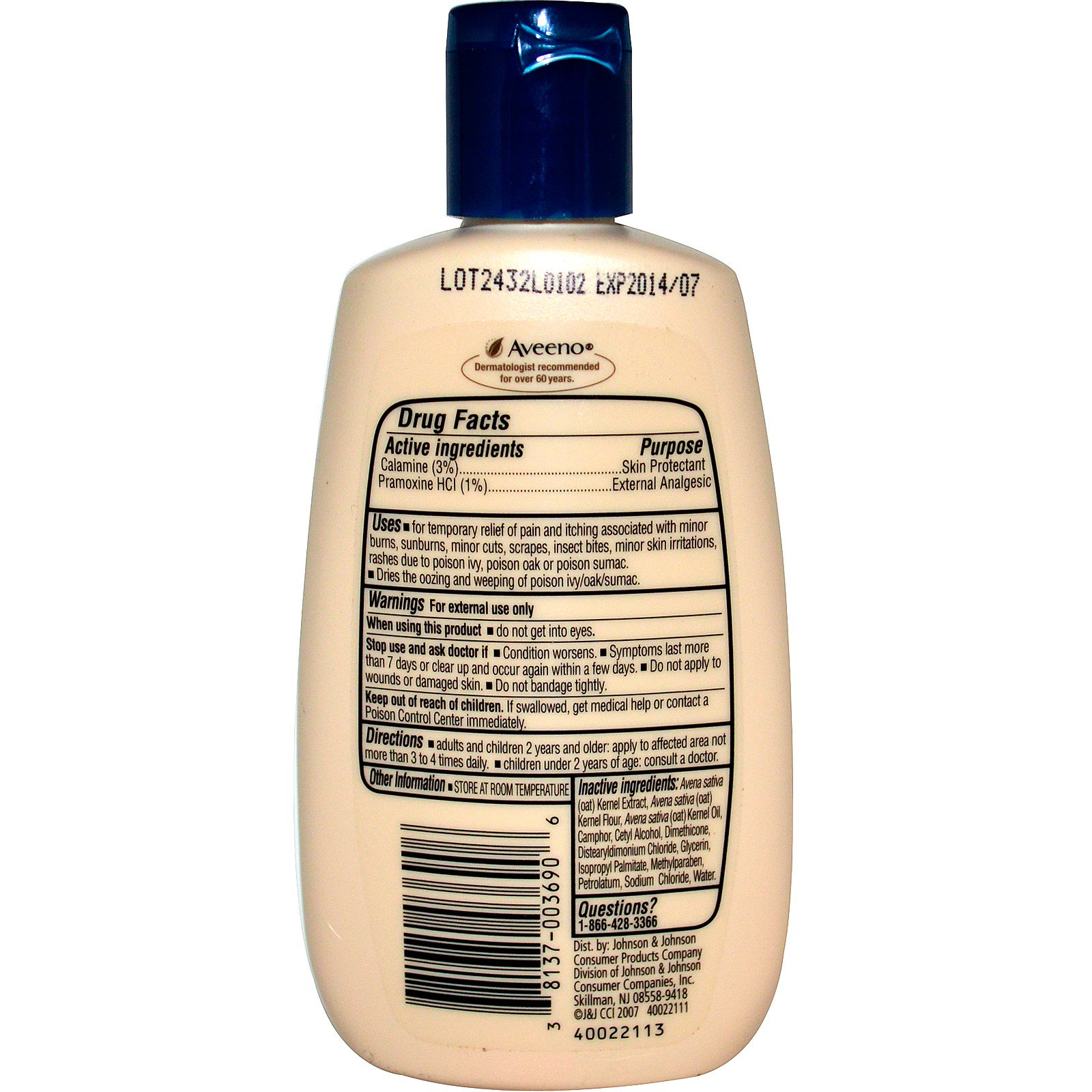 Aveeno Active Naturals Anti Itch Concentrated Lotion 4
