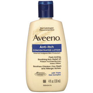 Aveeno, Active Naturals, противозудный концентрированный лосьон, 118мл (4жидк.унции)