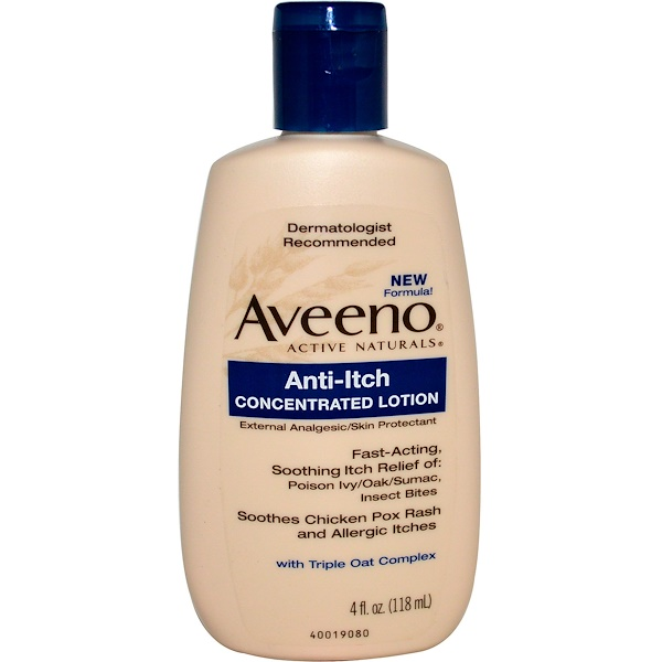 Aveeno, Active Naturals, Anti-Itch Concentrated Lotion, 4 fl oz (118 ml)
