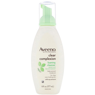 Aveeno, Active Naturals, Clear Complexion Foaming Cleanser, 6 fl oz (177 ml)