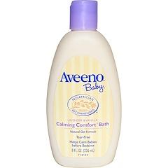 Aveeno, 베이비, 카밍 컴포트 바스, 라벤더 & 바닐라, 8 액량 온스 (236 밀리리터)