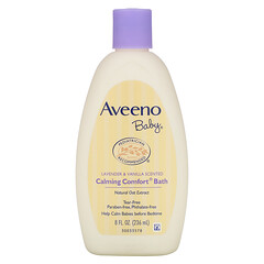 Aveeno, 嬰兒鎮靜舒適沐浴露,薰衣花草及香草,8液體盎司(236毫升)