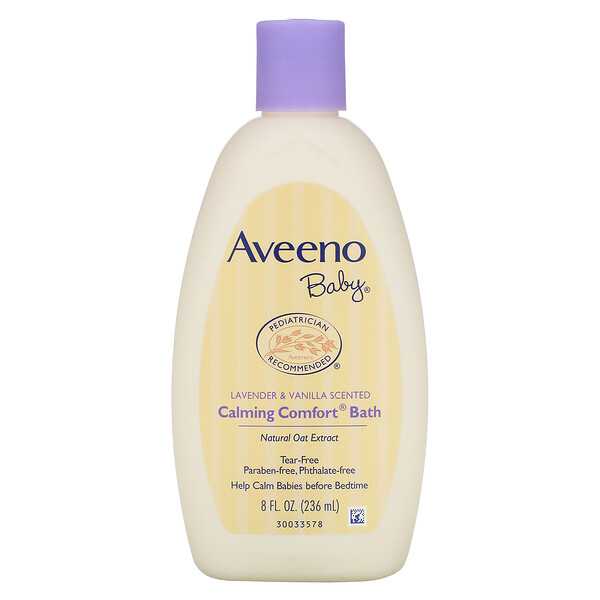 Aveeno, Baby, beruhigendes Komfortbad, Lavendel & Vanille, 8 fl oz (236 ml)
