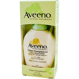 Aveeno, Active Naturals, Clear Complexion, Daily Moisturizer, 4 fl oz (120 ml)