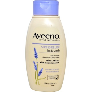Aveeno, Active Naturals, Stress Relief Body Wash, 12 fl oz