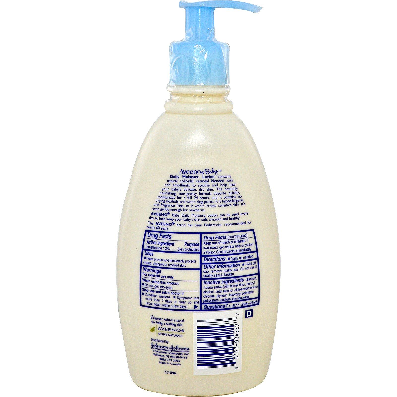 Aveeno Baby Daily Moisture Lotion Fragrance Free 12 Fl