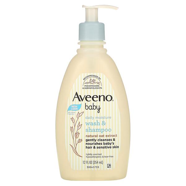 Aveeno, Baby, Wash & Shampoo, Lightly Scented, 12 fl oz (354 ml)