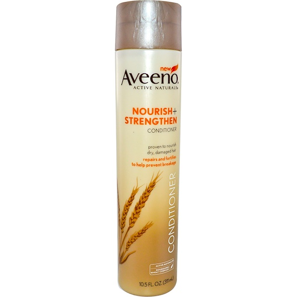 Aveeno, Active Naturals, Nourish+Strengthen, Conditioner, 10.5 fl oz (311 ml)
