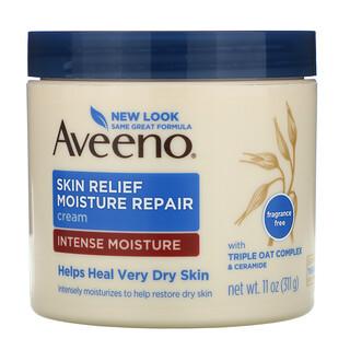 Aveeno, Active Naturals, восстанавливающий увлажняющий крем для кожи, без ароматов, 311 г (11 унций)