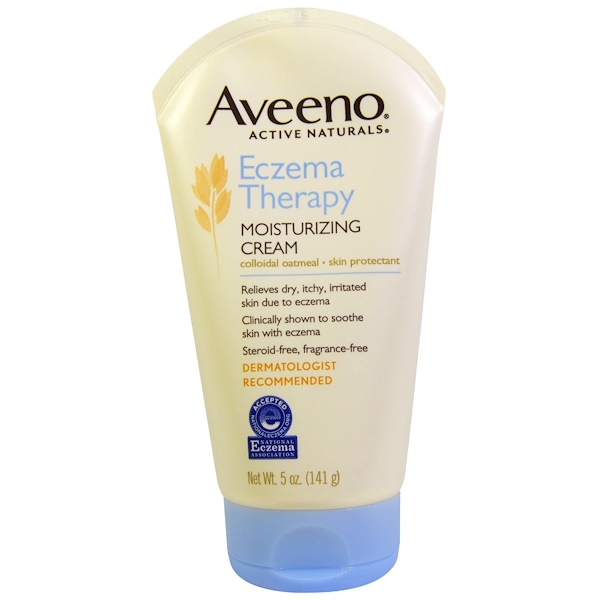Aveeno, Active Naturals, Eczema Therapy, Moisturizing Cream, Fragrance Free, 5 oz (141 g) (Discontinued Item)