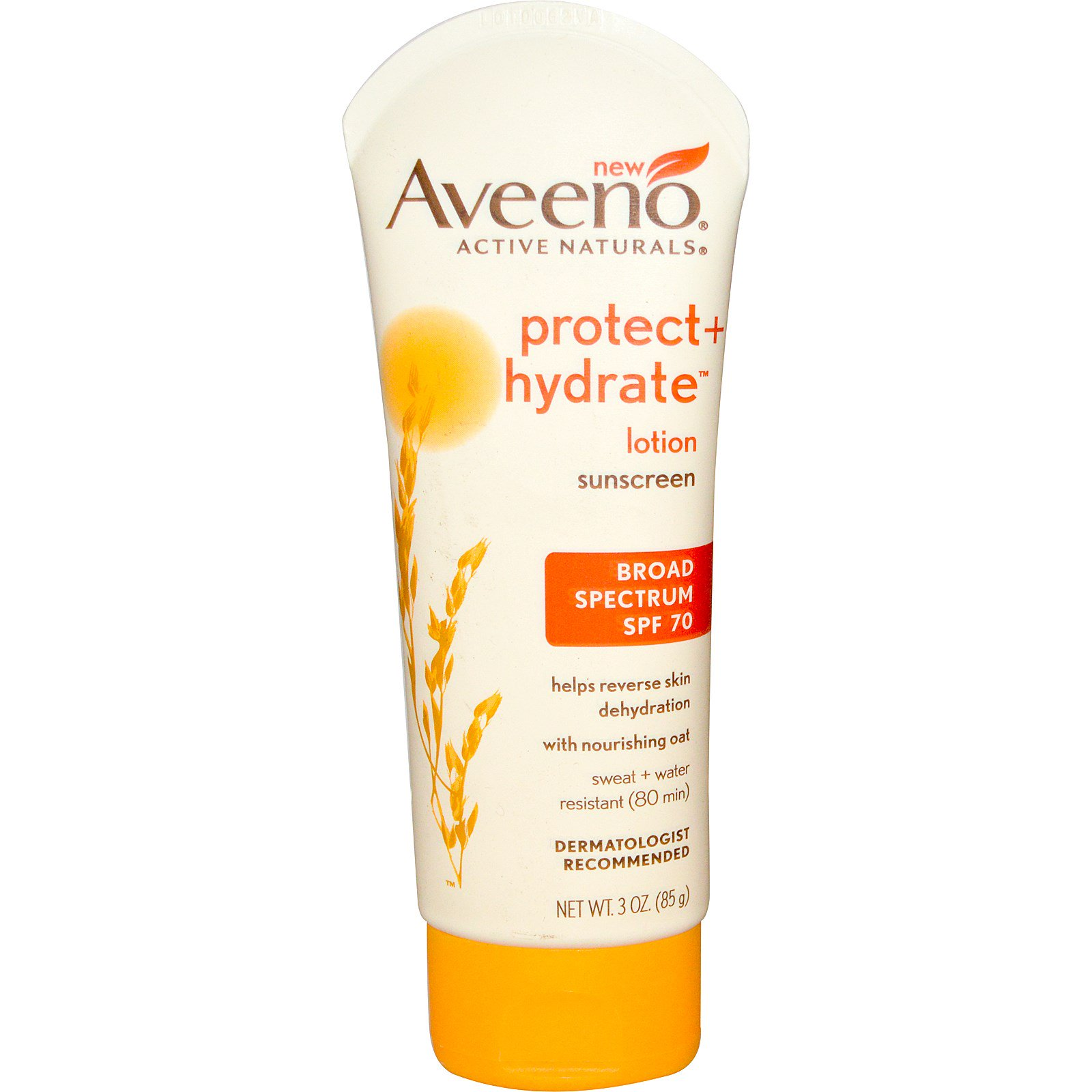 Image result for Aveeno Protect + Hydrate Lotion Sunscreen With Broad Spectrum SPF 70, 3 Oz