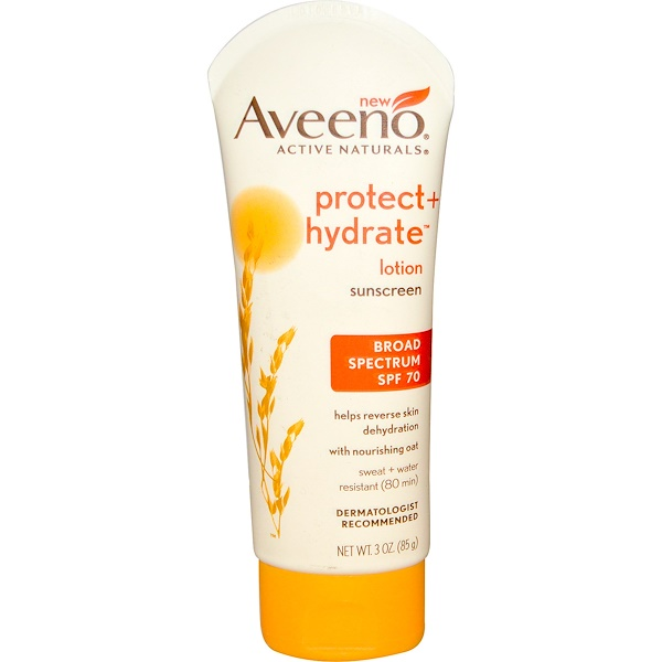 Aveeno, Active Naturals, Protect + Hydrate Lotion, Sunscreen, SPF 70, 3 oz (85 g)