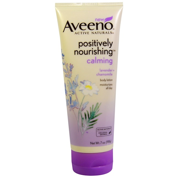 Aveeno, Active Naturals, Positively Nourishing Calming Body Lotion, Lavender + Chamomile, 7 oz (198 g)