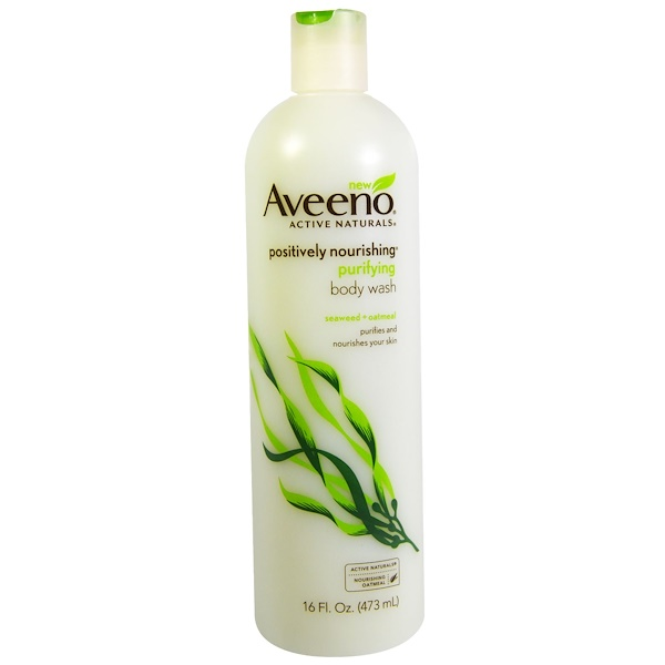 Aveeno, Active Naturals, Positively Nourishing Purifying Body Wash, Seaweed + Oatmeal, 16 fl oz (473 ml) (Discontinued Item)