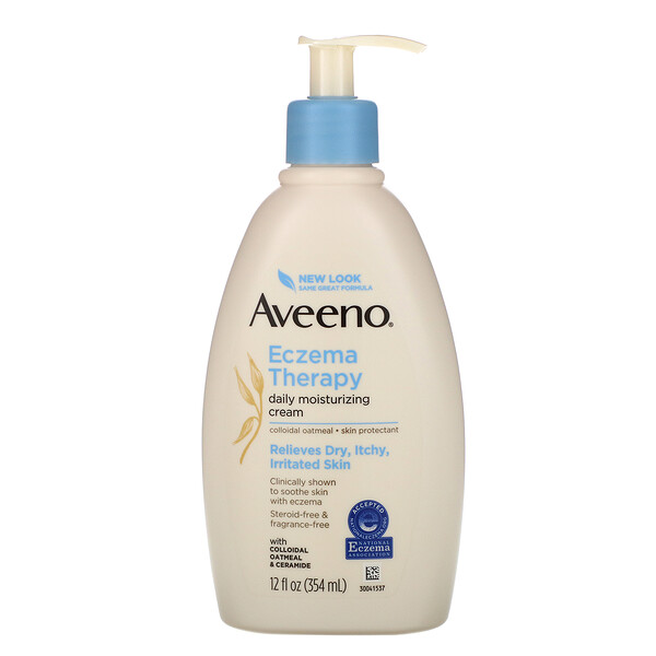 Aveeno, Eczema Therapy, Moisturizing Cream, Fragrance Free, 12 fl oz (354 ml)