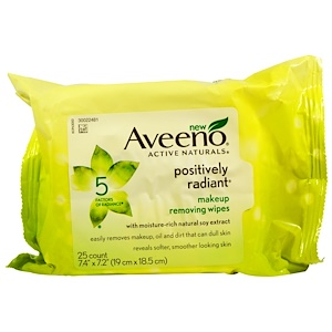 Авино, Active Naturals, Positively Radiant Makeup Removing Wipes, 25 Wipes отзывы