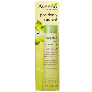 Aveeno, Active Naturals, Positively Radiant, Targeted Tone Corrector, 1.1 fl oz (32 ml)
