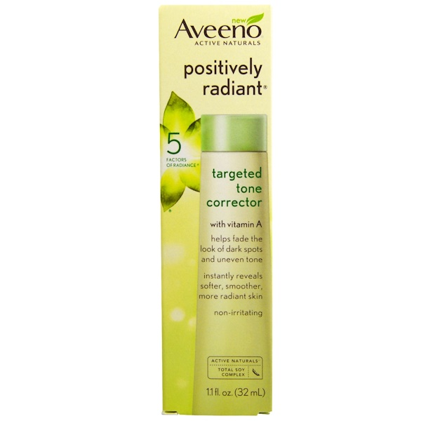 Aveeno, Active Naturals, Positively Radiant, Targeted Tone Corrector, 1.1 fl oz (32 ml) (Discontinued Item)