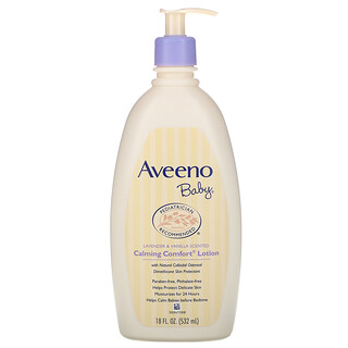 Aveeno, Baby, Calming Comfort Lotion, Lavender & Vanilla, 18 fl oz (532 ml)