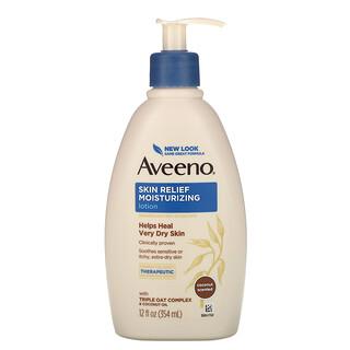 Aveeno, Active Naturals, Skin Relief, Gentle Scent Lotion, Nourishing Coconut, 12 fl oz (354 ml)
