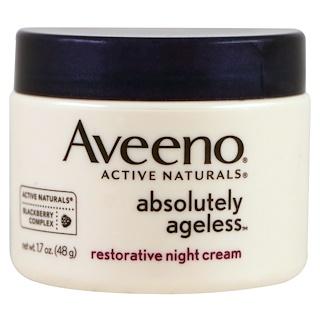 Aveeno, Absolutely Ageless, Crema restauradora nocturna, 1.7 oz (48 g)