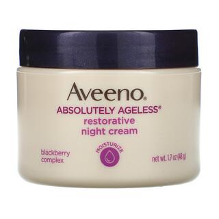 Aveeno, Absolutely Ageless ديمومة الشباب، كريم التجديد الليلي، 1.7 أوقية (48 غرام)