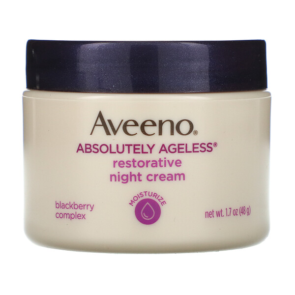 Aveeno, Absolutely Ageless, Restorative Night Cream, 1.7 oz (48 g)