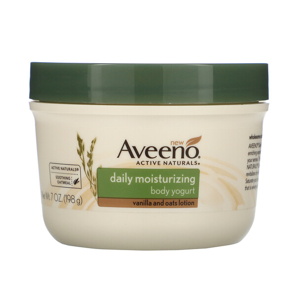 Aveeno, Active Naturals, Daily Moisturizing Body Yogurt, Vanilla and Oats Lotion, 7 oz (198 g) (Discontinued Item)