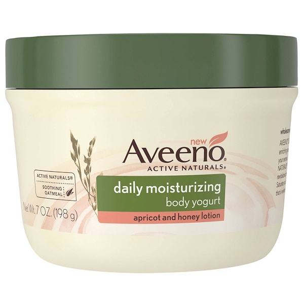 Aveeno, Active Naturals, Daily Moisturizing Body Yogurt, Apricot and Honey Lotion, 7 oz (198 g) (Discontinued Item)