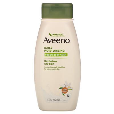 Aveeno Daily Moisturizing Yogurt Body Wash, Vanilla, 18 fl oz (532 ml)