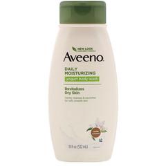 Aveeno, Daily Moisturizing Yogurt Body Wash, Vanilla, 18 fl oz (532 ml)