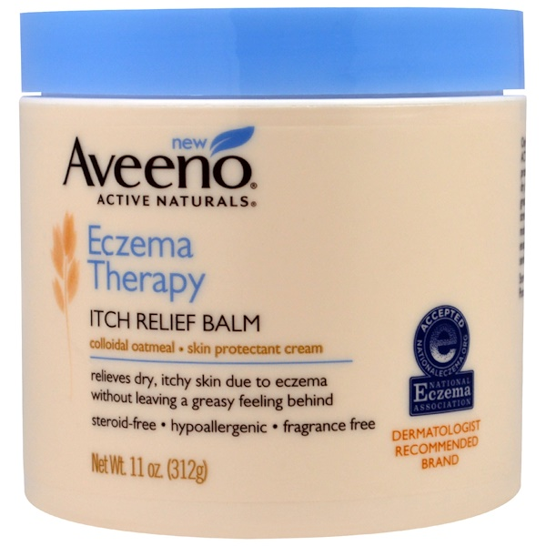 :Aveeno, Eczema Therapy Itch Relief Balm, 11 oz (312 g)