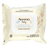Aveeno, 嬰兒手部與面部濕巾,25片一次性濕巾