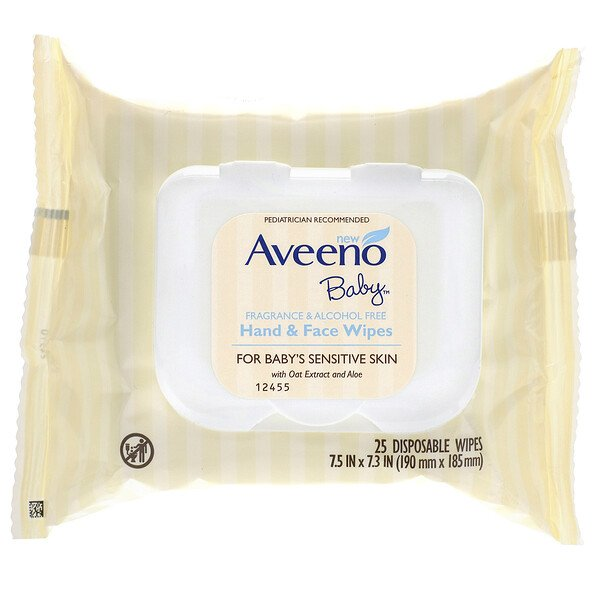 Baby Hand & Face Wipes, 25 Disposable Wipes